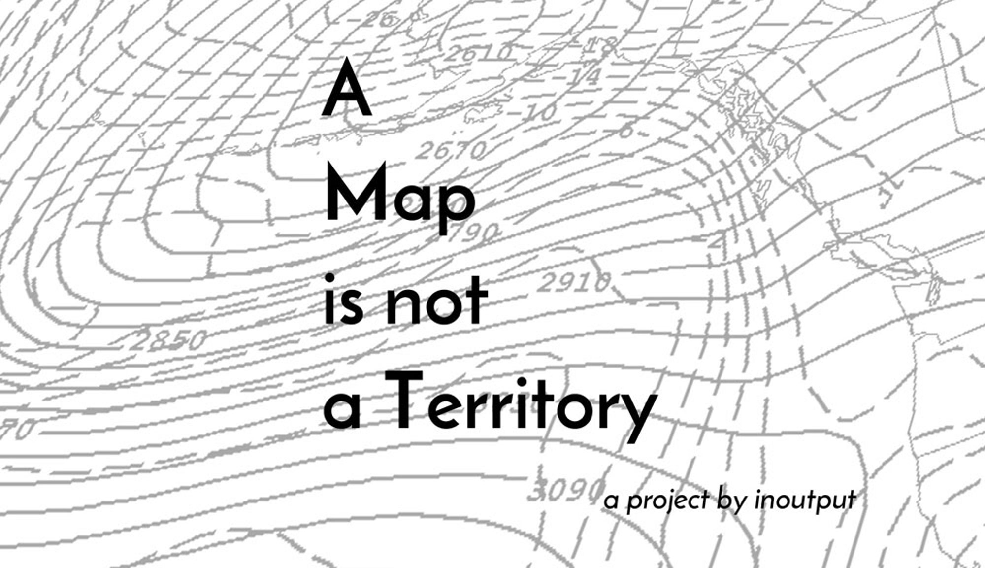 A map is not a territory